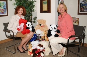 Teddy bears with Jenny Yingling